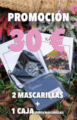 PROMOCION DE 2 MASCARILLAS Y 1 CAJA